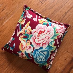 Vintage shabby Art Deco floral throw accent pillow